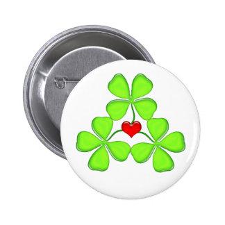 trèfle irlandais St Patrick de quatre-feuille de Badges