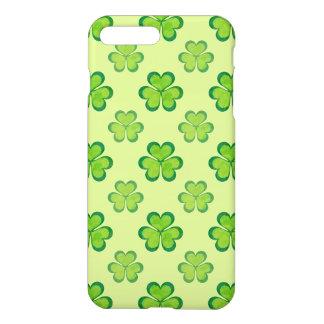 Trèfles chanceux de shamrocks de vert du jour de coque iPhone 7 plus