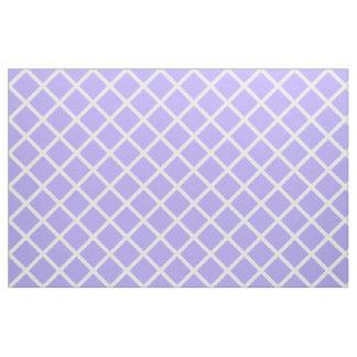Trellis blanc sur le lilas bleu tissu