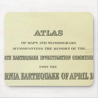 Tremblement de terre de la Californie d'atlas de p Tapis De Souris
