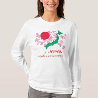Tremblement de terre du Japon et chemise de T-shirt