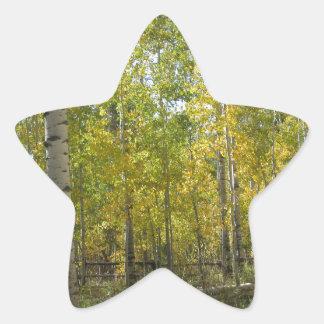 Trembles en automne sticker étoile
