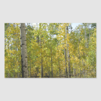 Trembles en automne sticker rectangulaire
