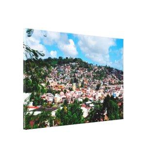 Trénelle quartier de Fort-de-France, Martinique Impression Sur Toile