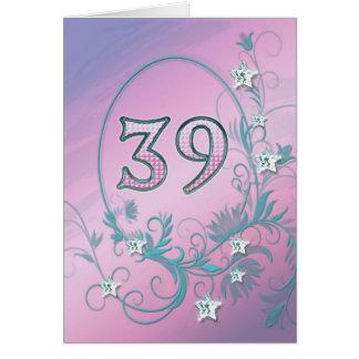 trente-neuvième Carte d'anniversaire avec des