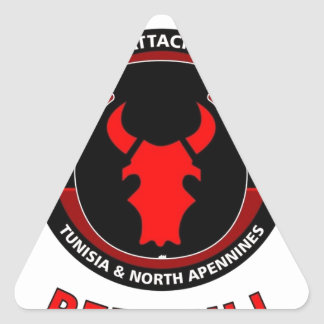 """trente-quatrième DIVISION d'INFANTERIE"""" RED BULL """" Sticker En Triangle"""