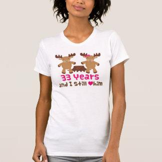 trente-troisième Cadeau d'anniversaire pour elle T-shirt