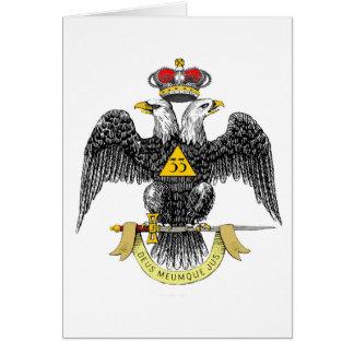trente-troisième Noir écossais Eagle de rite de Carte De Vœux