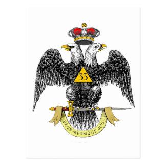 trente-troisième Noir écossais Eagle de rite de Carte Postale