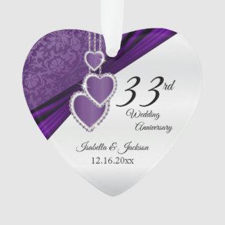 trente-troisième Souvenir pourpre d'anniversaire