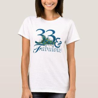 trente-troisième T-shirts d'anniversaire