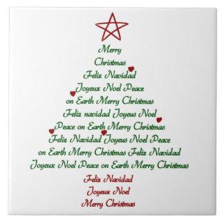 Trépied de tuile d'arbre de Noël Carreau