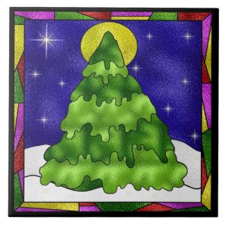 Trépied de tuile d'arbre de Noël Grand Carreau Carré