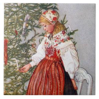 Trépied de tuile de beaux-arts d'arbre de Noël de  Grand Carreau Carré