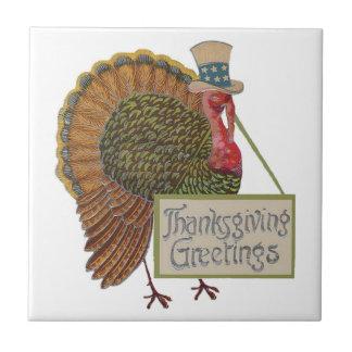 Trépied de tuile de la Turquie de thanksgiving Carreau En Céramique