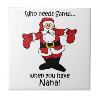 Trépied de tuile de Nana de Noël Carreaux En Céramique
