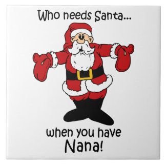 Trépied de tuile de Noël de Nana Carreau En Céramique