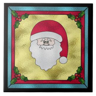Trépied de tuile de Noël du père noël Carreau