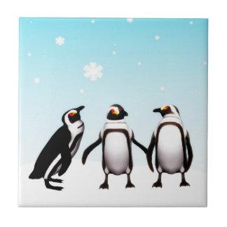Trépied de vacances de pingouin carreau