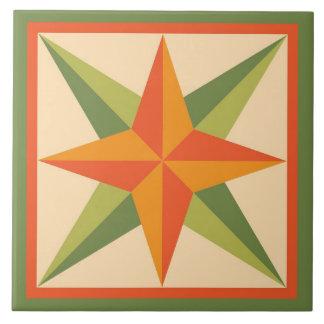 Trépied d'édredon - bloc biseauté d'étoile grand carreau carré