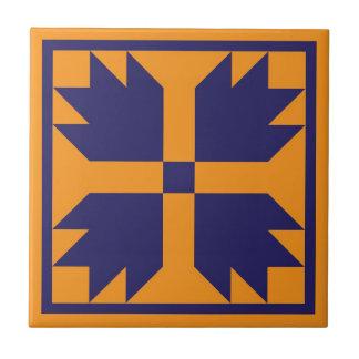 Trépied d'édredon - bloc de patte d'ours (bleu/or) petit carreau carré