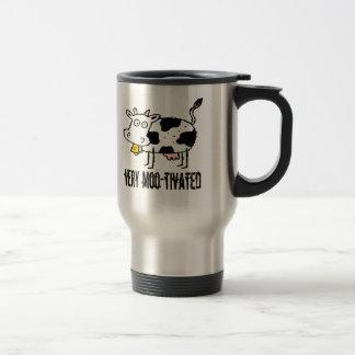 Très cadeaux drôles du T-shirts MOO-tivated Mug De Voyage