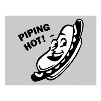 TRÈS CHAUD ! Rétro hot-dog - noir et blanc Carte Postale