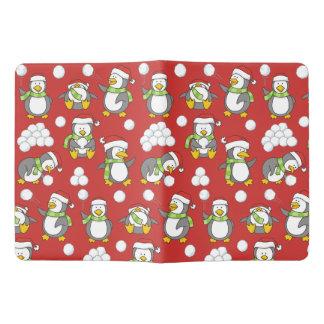 Très Grand Carnet Moleskine Arrière - plan de pingouins de Noël