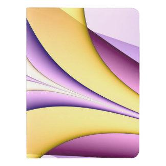 Très Grand Carnet Moleskine Fractale colorée par pastel. Jaune, rose, pourpre