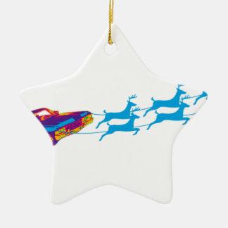 Très Noël de Supernaturnal Ornement Étoile En Céramique