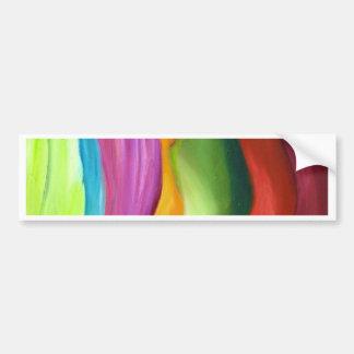 Très peinture abstraite de colorfull autocollant pour voiture