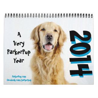 Très une année de ParkerPup - calendrier 2014