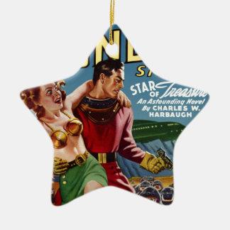 Trésor d'étoile ornement étoile en céramique