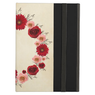 "Tressez coque ipad rose/rouge ""simple de cercle"""