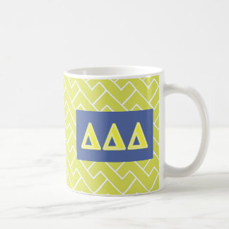 Tri lettres de jaune de delta mug