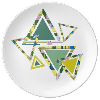 Triangle abstraite Creatinery© de conception Assiette En Porcelaine