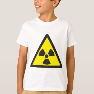 Triangle d'avertissement de symbole radioactif t-shirt