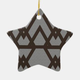 Triangle et motif gris de diamant ornement étoile en céramique
