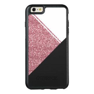 Triangle moderne de noir de scintillement d'or de coque OtterBox iPhone 6 et 6s plus