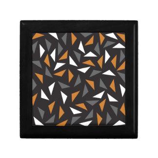 Triangles Animated Petite Boîte À Bijoux Carrée