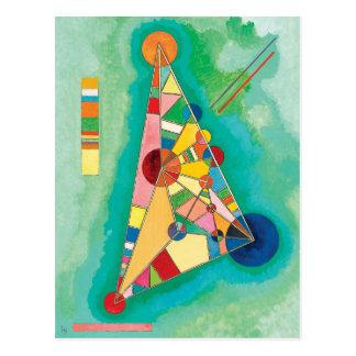 Triangles colorées par Wassily Kandinsky Carte Postale