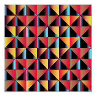 Triangles colorées posters