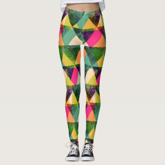 Triangles géométriques abstraits Colorés Leggings