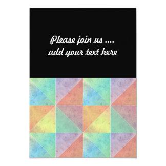 Triangles géométriques d'art d'aquarelle invitation personnalisée