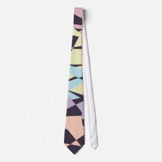 triangles géométriques de bloc élégant de couleur cravate