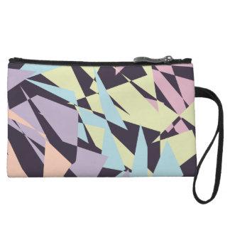triangles géométriques de bloc élégant de couleur sac à main avec anse