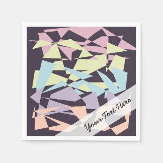 triangles géométriques de bloc élégant de couleur serviette en papier
