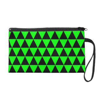Triangles géométriques de noir et de vert de chaux dragonne