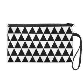 Triangles géométriques noires et blanches dragonne