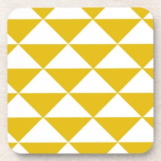 Triangles jaunes et blanches d'or sous-bocks